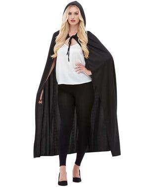 Zwarte cape voor volwassenen