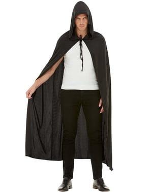 Czarna peleryna dla dorosłych