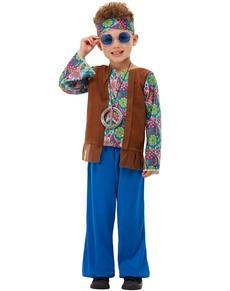 Disfraz de hippie de los 60 para niño