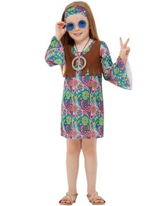 ff4b4670f29 60s Hippie Costume for Girls ...
