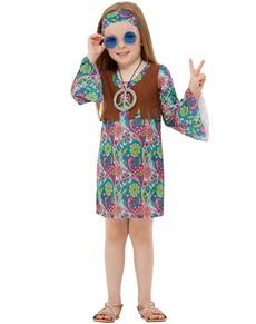 Disfraz de hippie de los 60 para niña