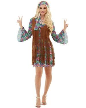 Hippie Kostyme til Dame