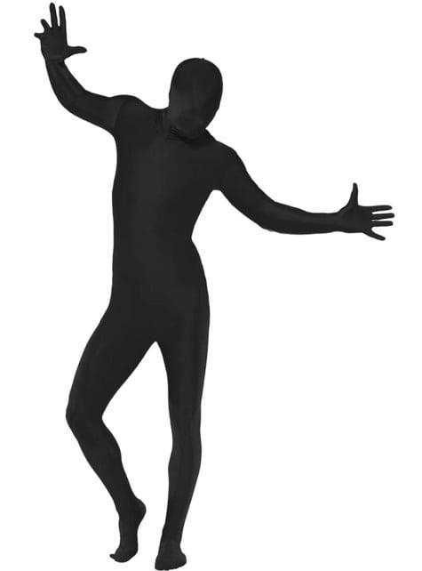 Déguisement seconde peau noir adulte