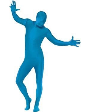 Second skin blå maskeraddräkt