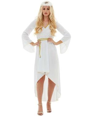 天使服装的妇女