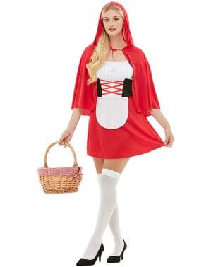 Yetişkinler için küçük kırmızı başlıklı kız kostümü
