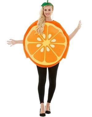 Appelsin kostume til voksne