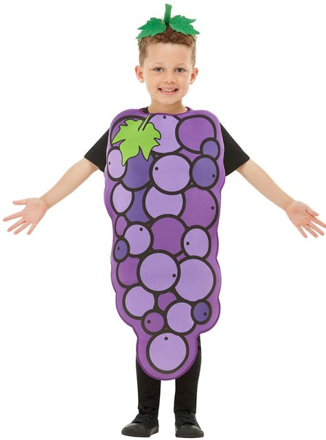 Fato de uva infantil