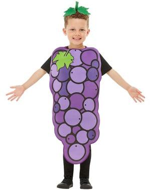 葡萄服装的孩子们