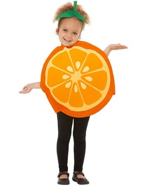 橙色服装的孩子们