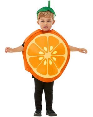 아이들을위한 오렌지 의상