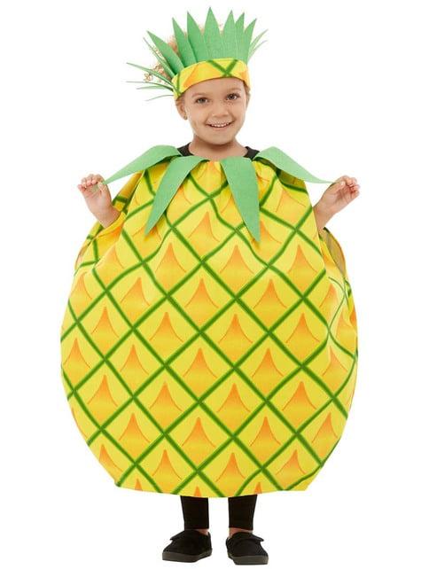 Fato de abacaxi infantil