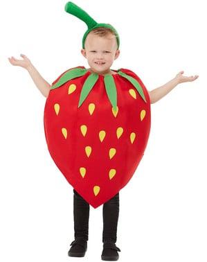 Fato de morango para criança