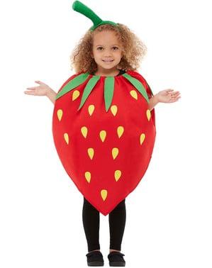 Fato de morango infantil