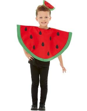 西瓜服装的孩子们