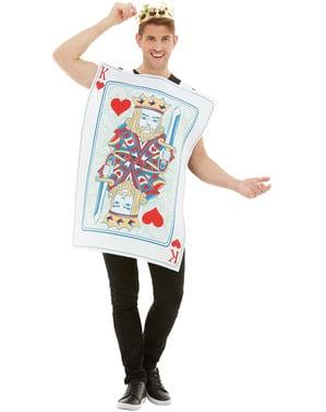 Hjärter kung spelkort maskeraddräkt