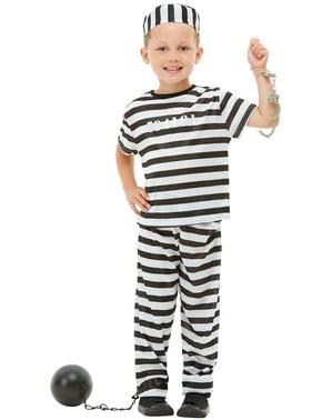 Sträfling Kostüm für Kinder