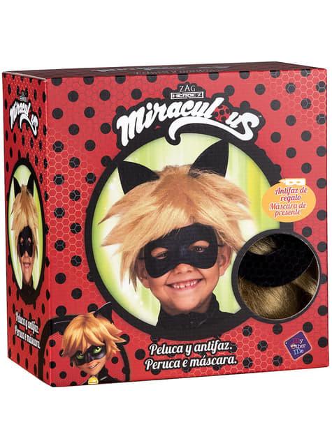 Peluca de Cat Noir para niño - Las Aventuras de Ladybug - para tu disfraz