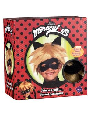 Cat Noir parykk og maske til barn