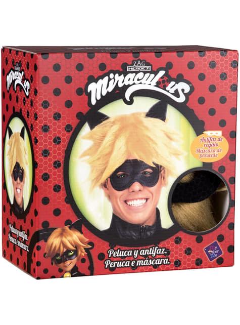 Peluca de Cat Noir para hombre - Las Aventuras de Ladybug - para tu disfraz