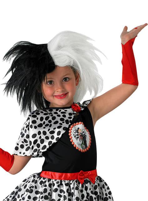 Peluca de Cruella de Vil para niña - 101 Dálmatas