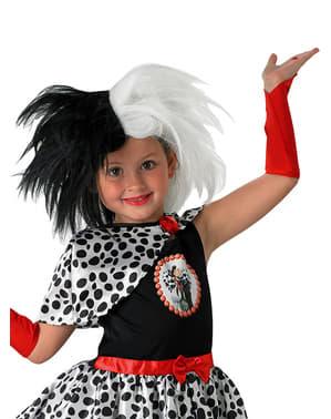 Peruca de Cruella de Vil para menina - 101 Dálmatas