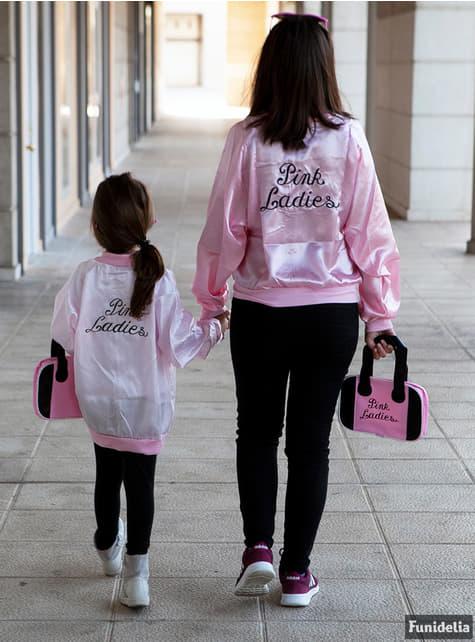 Grease pink jakke barn