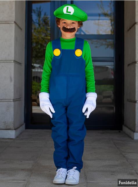 Disfraz de Luigi super prestige con cubrepies para niño  - infantil