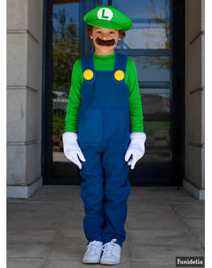 Luigi Super Prestige kostuum met overlaarzen voor jongens