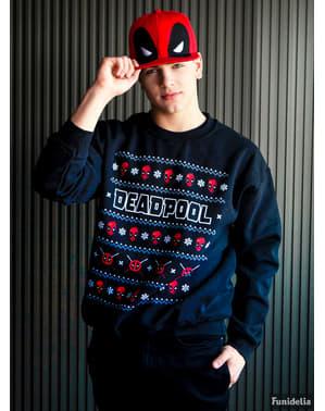 Pletený pulovr Deadpool vánoční parta