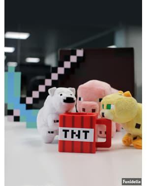 Peluche Minecraft bébé petit Ours polaire 18 cm