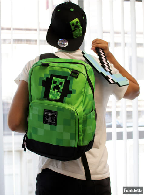 Sac à dos Minecraft Creepy Creeper vert