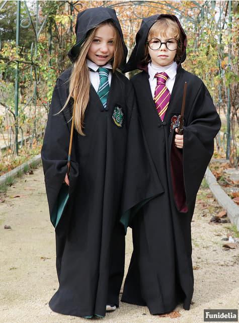 Túnica de Slytherin Deluxe para niño (Réplica oficial Collectors) - Harry Potter - para verdaderos fans