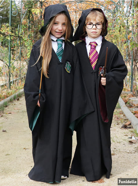 Túnica de Slytherin Deluxe para niño (Réplica oficial Collectors) - Harry Potter