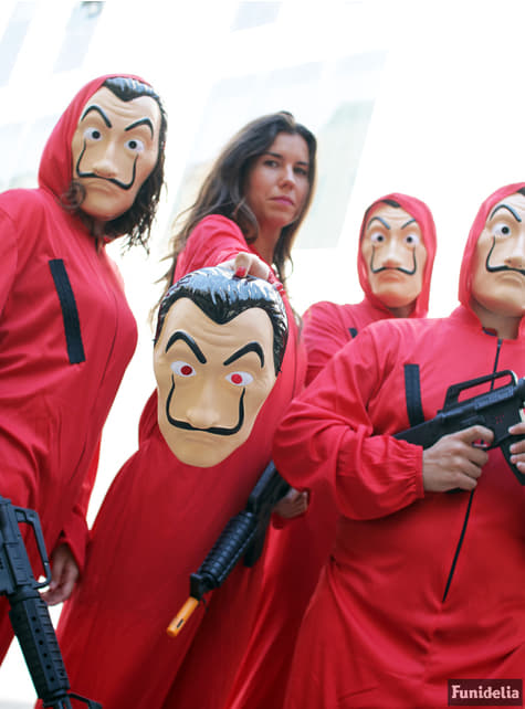 La Casa de Papel kostuum met masker voor volwassenen