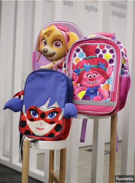 Mochila com rodas infantil 3D Skye roxa - Patrulha Pata