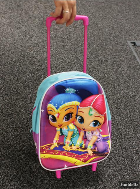 Mochila con ruedas infantil 3D Shimmer y Shine - productos oficiales para fans