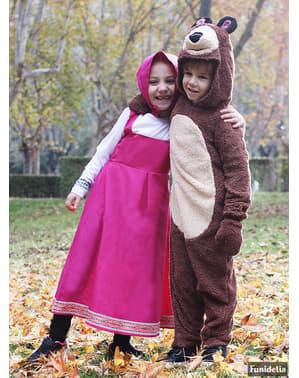 Bjørnekostyme til Barn - Masha og Mishka