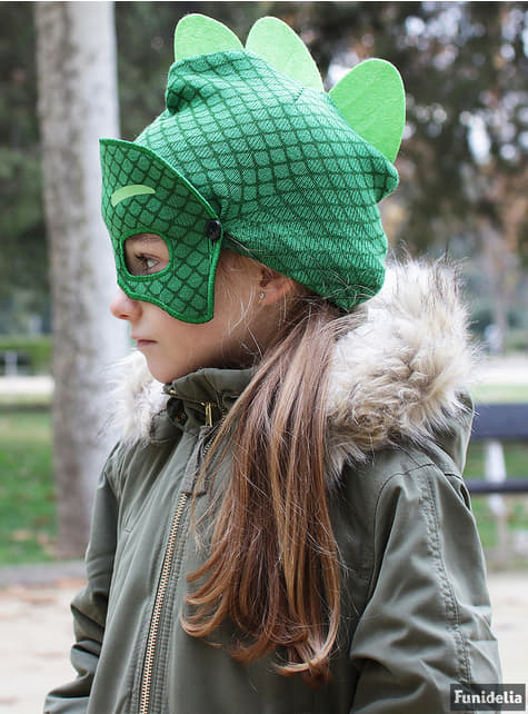 Gorro de Gekko com mascarilha infantil - PJ Masks