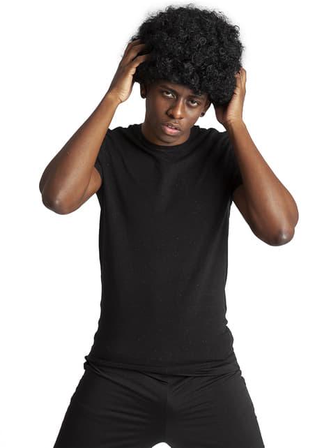 Perücke Funky Afro Schwarz
