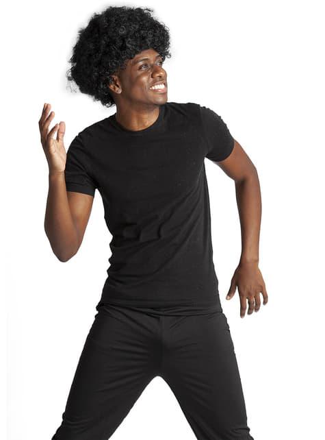 Funky Svart Afroparykk