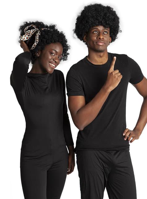 Funky Afro Pruik Zwart