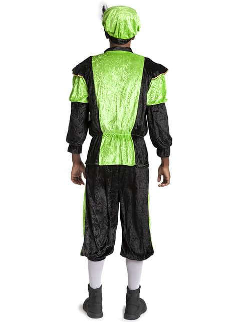 Disfraz de ayudante de San Nicolás verde para adulto - hombre
