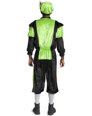 Disfraz de ayudante de San Nicolás verde para adulto