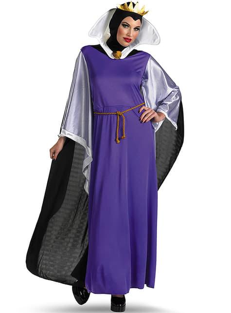 Costum Regina Malefică din Albă ca Zăpada deluxe pentru femeie