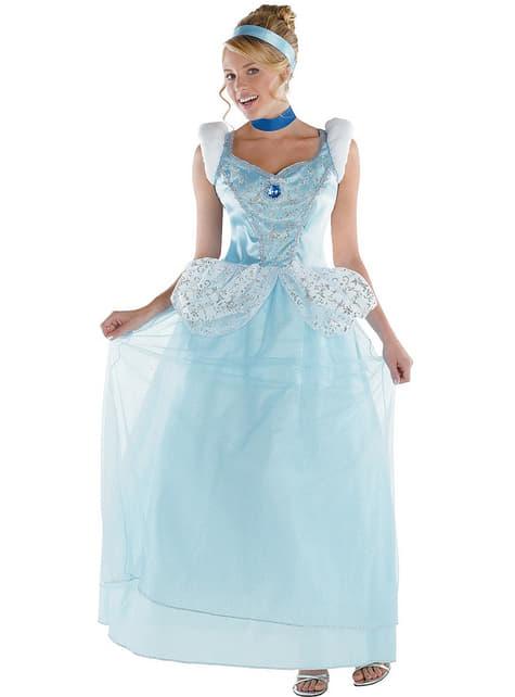 Aschenputtel Kostüm Deluxe für Erwachsene