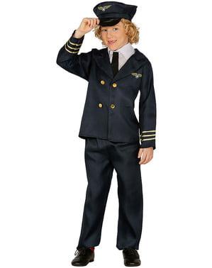 Disfarce de piloto para criança