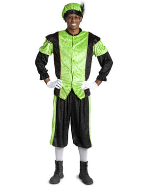Saint Nicholas helper Costume in green for adults