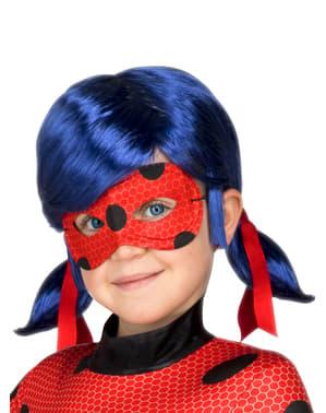Peruca Ladybug e máscara para menina