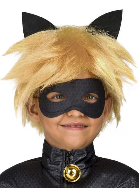 Peruka Czarny Kot dla chłopców - Miraculum: Biedronka i Czarny Kot